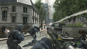 Urban squad based combat from Call of Duty: Modern Warfare 3