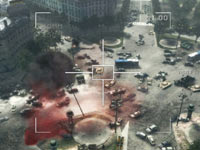 Satellite overview of urban combat area from Call of Duty: Modern Warfare 3