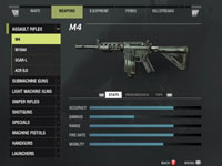Weapons customization screen from Call of Duty: Modern Warfare 3