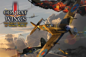 Combat Wings: The Great Battles of WWII game art with logo