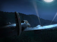 A bomber squadaron approaching their target at night in Combat Wings: The Great Battles of WWII