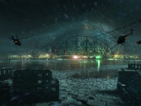 An exterior view of the New York City nanodome from Crysis 3