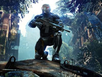 Prophet taking position for a sniping shot in Crysis 3
