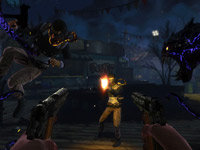 The demon arms of Jackie Estacado devastating an enemy in The Darkness II