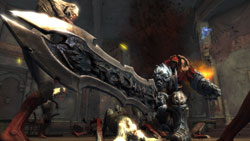 War swinging his primary weapon in 'Darksiders'