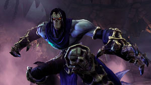 Death at the ready in an attack crouch in Darksiders II
