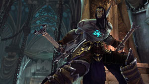 Death ready to dual-wield from an attack crouch in Darksiders II