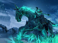 Death riding his pale mount in Darksiders II