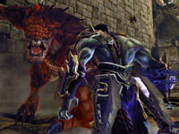 Death face-to-face with a huge enemy in Darksiders II