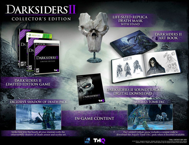 Darksiders ii limited and collector's edition revealed.
