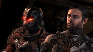 John Carver and Isaac Clarke in Dead Space 3