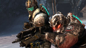 Isaac Clarke and John Carver in Dead Space 3
