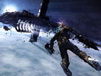 Floating in a space environment in Dead Space 3