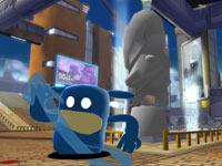 de Blob feeling blue in Prisma City in de Blob 2