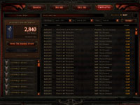 Auction House functionality from Diablo III
