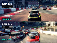 Split screen multiplayer functionality from DiRT 3