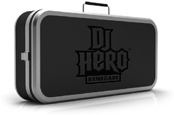 The DJ Hero Renegade Edition turntable controller hardcase