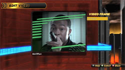 Video editing screen from Def Jam Rapstar