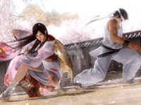 Kokoro parying an attack by Akira in Dead or Alive 5