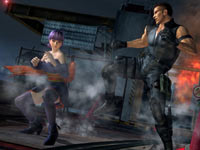 Ayane battling Bayman in Dead or Alive 5
