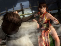 Leifang unleashing a special move in Dead or Alive 5