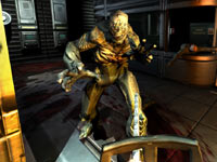 Using the chainsaw in DOOM 3 BFG Edition