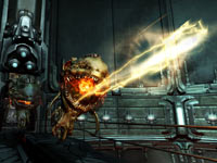 Cacodemons attacking in DOOM 3 BFG Edition