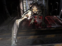 An approaching Crawl creature in DOOM 3 BFG Edition