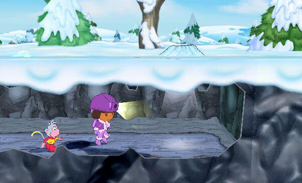 Dora and Boots the Monkey underground in 'Dora the Explorer: Dora