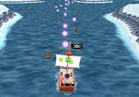 Ship in icy waters following in-game promts in 'Dora the Explorer: Dora Saves the Snow Princess' for Wii