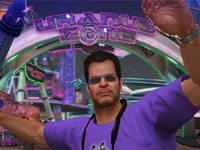 Frank West visiting 'Uranus Zone' in Dead Rising 2: Off The Record