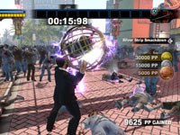 Frank West going for gold in a zombie killing challenge in Dead Rising 2: Off The Record