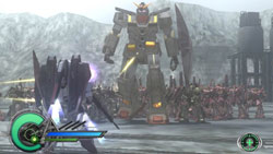 Huge boss mech commander in 'Dynasty Warriors: Gundam 2'
