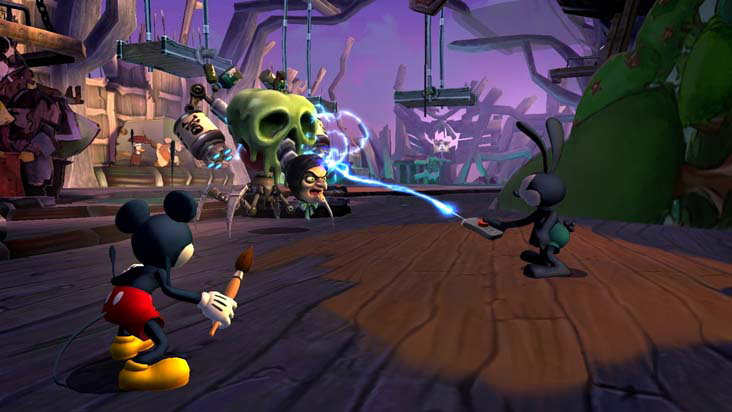 the power of his remote in Disney Epic Mickey 2: The Power of Two