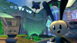 A close-up of Oswald the Lucky Rabbit in Disney Epic Mickey 2: The Power of Two