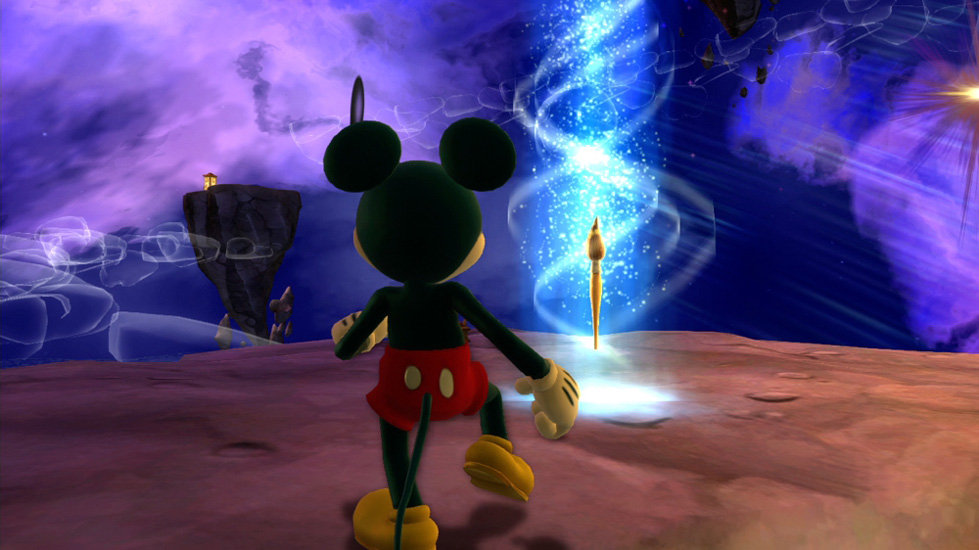 Mickey Mouse recclaiming his magical brush in Disney Epic Mickey 2