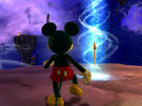 Mickey Mouse recclaiming his magical brush in Disney Epic Mickey 2: The Power of Two