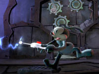 Oswald using his amazing remote in Disney Epic Mickey 2: The Power of Two