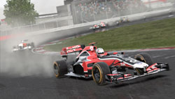 A Formula One car coming right at you in F1 2011