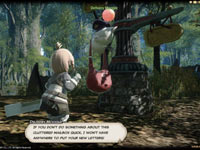 Receiving a message in-game in Final Fantasy XIV: A Realm Reborn