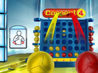 Connect 4 Basketball screenshot from Family Game Night 4: The Game Show featuring motion control prompts