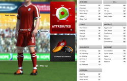 Player customization screen from FIFA Soccer 11