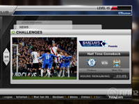 EA Sports Club challenge screen from FIFA Soccer 12