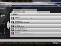 EA Sports Club news screen from FIFA Soccer 12