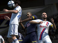 Battling for position to make a header in FIFA Soccer 12