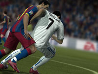 Battling for position in FIFA Soccer 12