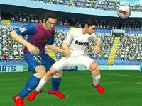 Heading the ball towards the goal in FIFA Soccer 12
