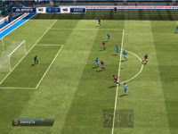 A bird's eye view of action on the pitch in FIFA 13