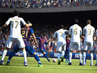 A goalkeeper's view of a penalty kick in action in FIFA 13