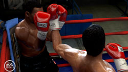 Tyson trying to block an Ali jab in 'Fight Night Round 4'